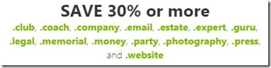 save 30 percent on domains with go daddy coupons and discount offers