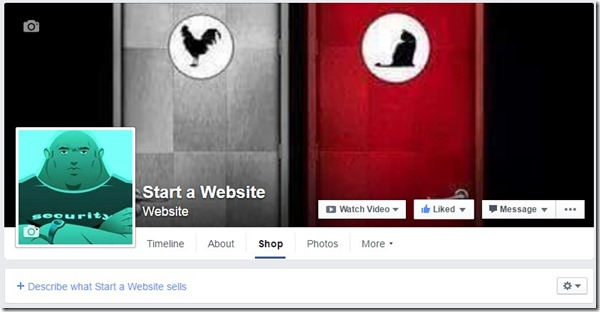 facebook start a website page