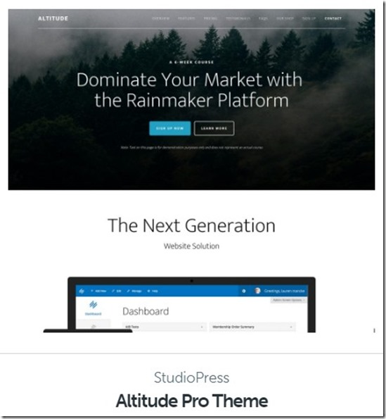 Altitude Pro Theme by studio press