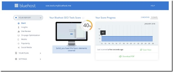 seo tool dashboard